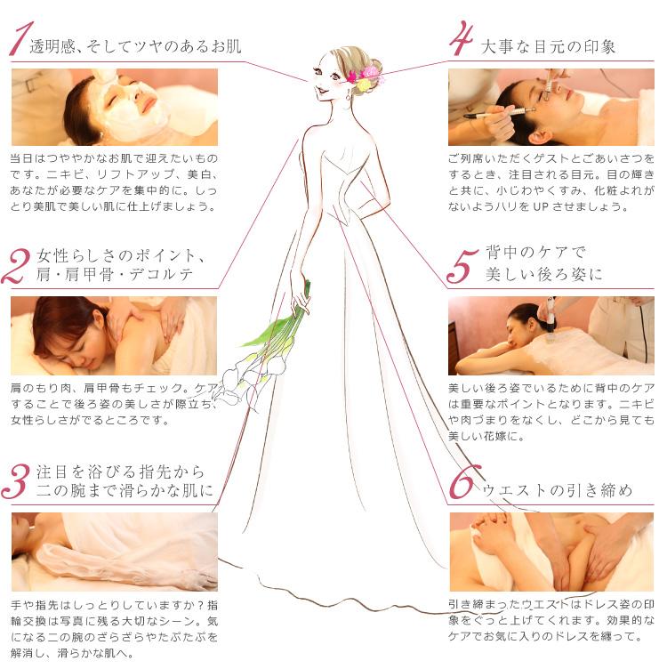 ドレス花嫁に必要なケアをチェック